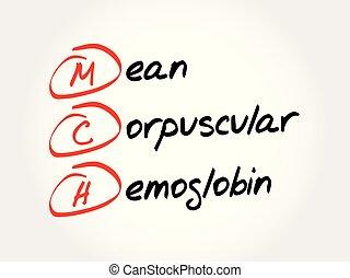 corpuscular, mch, hemoglobin, -, akronym, medel