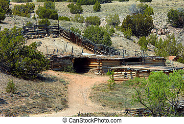 Corral and Log Cabins - Old rustic farm includes pole...