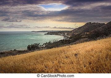 Corral Canyon Malibu Trail - Dramatic clouds and coastline...
