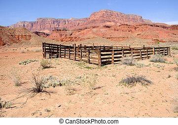 corral, solitaire, historique, vallon, ranch