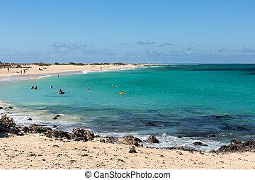 corralejo, plage, fuerteventura, îles canaries