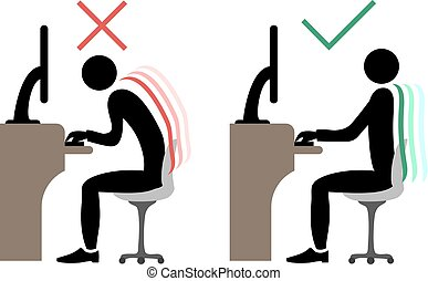 correct office back sitting - Creative design of correct...