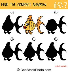 correct, ombre, (fish), trouver