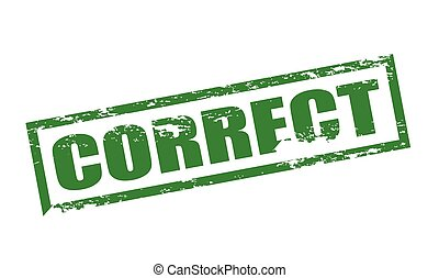 Correct - Rubber stamp with word correct inside, vector ...