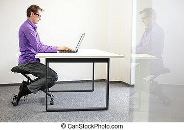 correct sitting position at laptop - correct sitting...