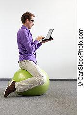 correct sitting position on ball