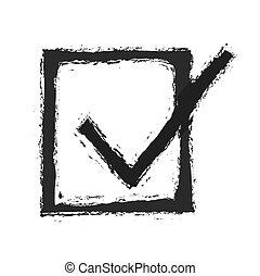 Correct symbol icon, vector