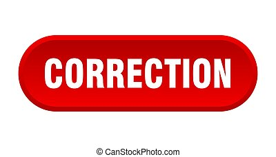 correction button. rounded sign on white background - ...