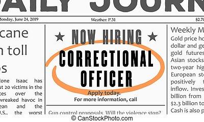 Correctional officer career
