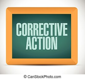 corrective action sign message illustration