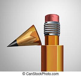 Corrective Strategy - Corrective strategy as an open pencil...