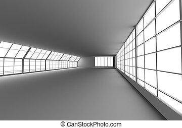 corredor, arquitetura