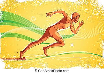 corredor, atleta