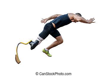 corredor, atleta inválido