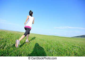 corredor, Atleta, pasto o césped, Funcionamiento