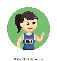 corredor, backgroundrathon.runner.14032017, color, hembra, círculo, maratón