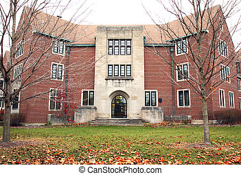 corredor, campus universidade, residência, estudante