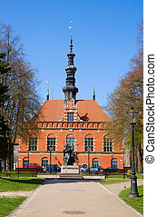 corredor cidade, de, antigas, gdansk