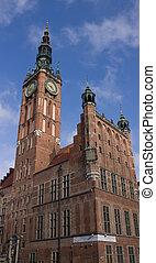 corredor cidade, de, gdansk