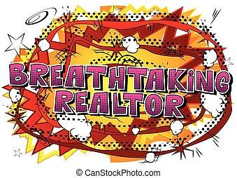 corredor de bienes raíces, impresionante, word., -, estilo,...
