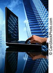 corredor de bienes raíces, ventas, cyber