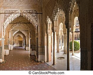 corredor, em, alhambra