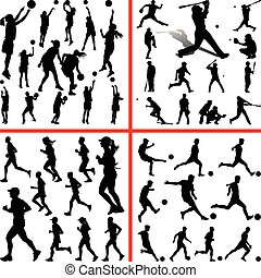 corredor, futbol, beisball, sportmix., baloncesto, mujeres