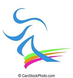 corredor, logotipo