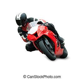 corredor, motocicleta
