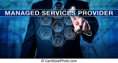 corredor, planchado, gestionado, servicios, proveedor