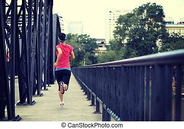 corredor, Puente, Atleta, Funcionamiento