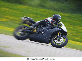 corredor, sportbike, motocicleta