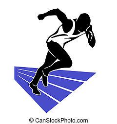 corredor, sprint