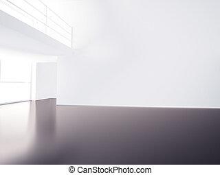 corredor, vazio