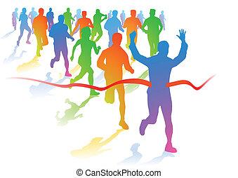 corredores, maratón