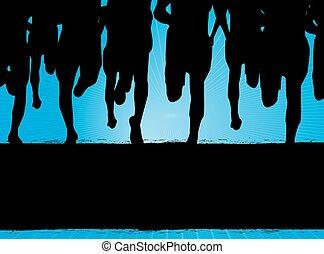 corredores maratona, fundo
