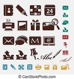 correio, ícones