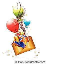 correio, aniversário