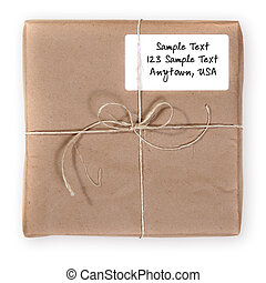 correio, através, enviado, despacho, pacote