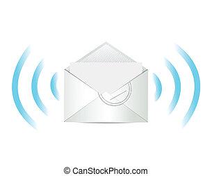 correio, desenho, mercado de zurique, ilustração, comunicação