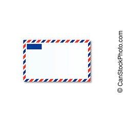 correio, letra, ar