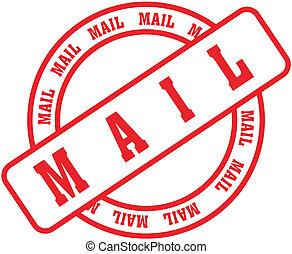 correio, stamp3, palavra
