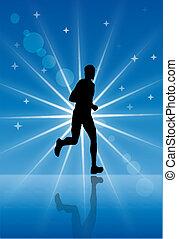 correndo, atleta