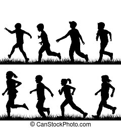 correndo, bambini