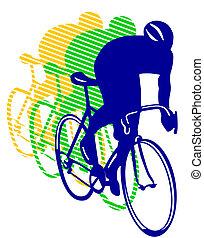 correndo bicicletta
