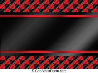 correndo, checkered, bandeiras, fundo, f