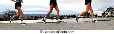 correndo, donne