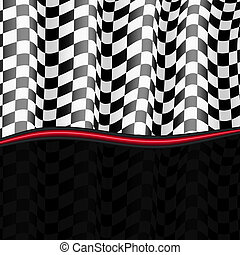 correndo, experiência., checkered, flag., vetorial, eps10