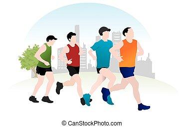 correndo, illustrazione