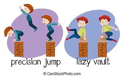 correndo, libero, illustrazione
